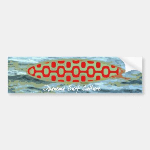 Ipanema surf culture bumper sticker