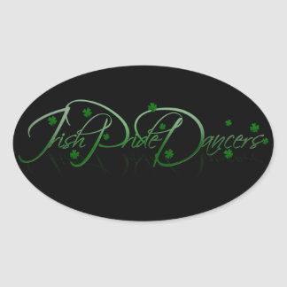 IPD Shamrock Oval Sticker