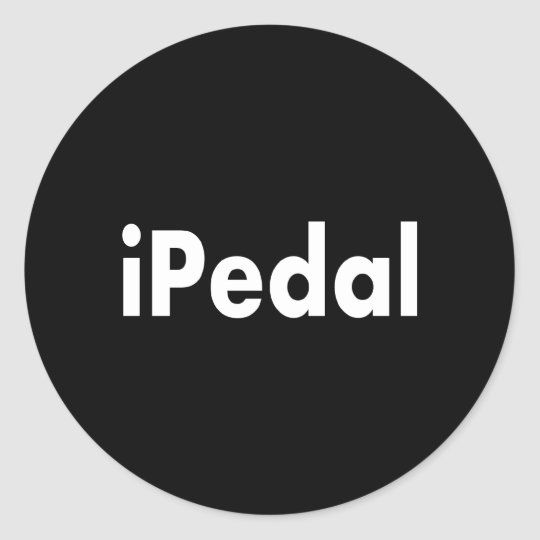 iPedal Classic Round Sticker