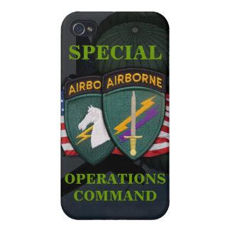 iph del socom de los asuntos civiles del comando d iPhone 4 cárcasas