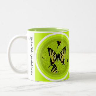 Iphiclides podalirius Two-Tone coffee mug