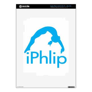 iPhlip Blue Gymnastics Gymnast iPad 3 Skins