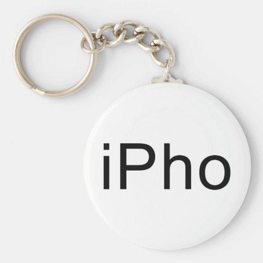 iPho Basic Round Button Keychain