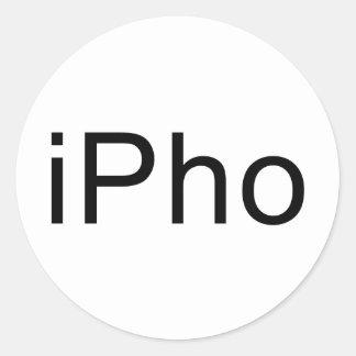 iPho Classic Round Sticker