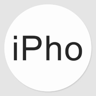 iPho Round Sticker