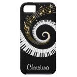 Iphon adaptable de las llaves del piano y de las n iPhone 5 Case-Mate carcasa