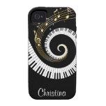 Iphon adaptable de las llaves del piano y de las n iPhone 4/4S carcasa