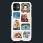 """iPhone11 Photo Collage Template Rounded Phone iPhone 11 Case<br><div class=""""desc"""">Custom Personalized 7 Photo Collage with White Frame iPhone 11 Phone Case</div>"""