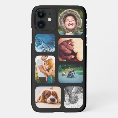 iPhone11 Photo Collage Template Rounded Phone iPhone 11 Case