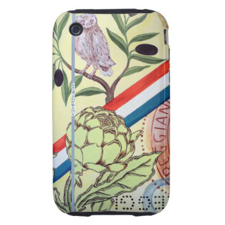 iPhone3 Case - Owl and Artichoke
