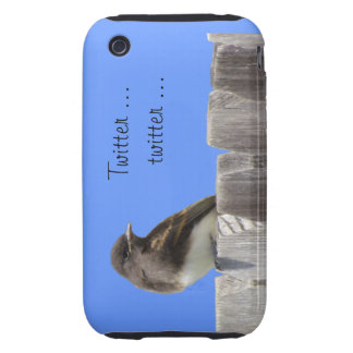 iPhone3 CM/Tgh - Flycatcher en la cerca Tough iPhone 3 Cárcasas