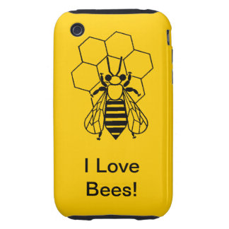 iPhone3 CM/Tgh - I Love Bees Tough iPhone 3 Cases