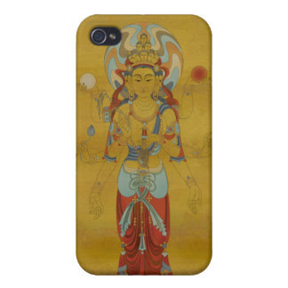 iPhone4 - 8 Arm Guan Yin Bamboo Background iPhone 4 Cover