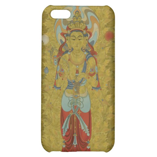 iPhone4 - 8 Arm Guan Yin Buddha Maple Leaf iPhone 5C Cover