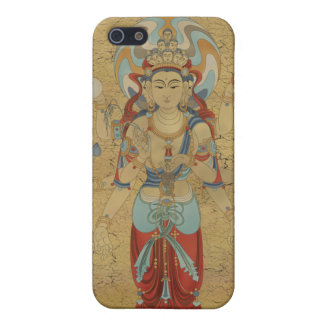 iPhone4 - 8 Arm Guan Yin Crackle Background Cover For iPhone SE/5/5s
