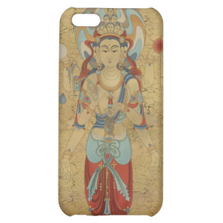 iPhone4 - 8 Arm Guan Yin Crackle Background Case For iPhone 5C