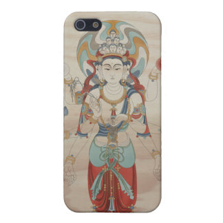 iPhone4 - 8 Arm Guan Yin Doug Fir Background Cover For iPhone SE/5/5s