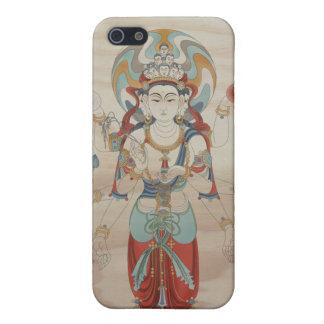 iPhone4 - 8 Arm Guan Yin Doug Fir Background iPhone 5/5S Cover