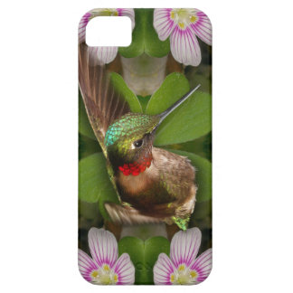 iphone4 case - hummingbird in bloom