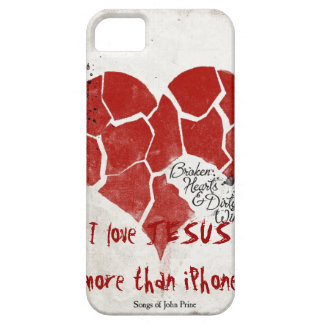 iPhone4 Case- I love Jesus more than iPhone iPhone 5 Cases