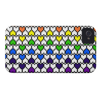 iPhone4 Case-Mate Rainbow Pixel Hearts