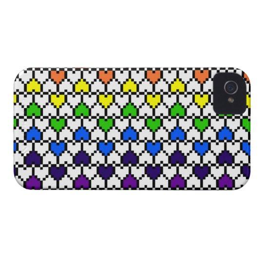 iPhone4 Case-Mate Rainbow Pixel Hearts