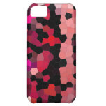 iphone4- case pink black mosaic iPhone 5C case