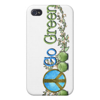 iphone4 Go Green Peace Case iPhone 4/4S Case