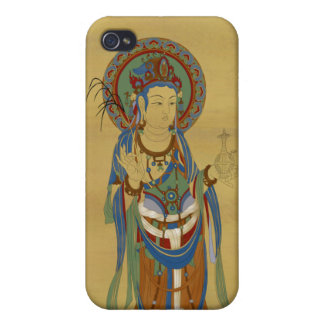 iPhone4 - Guan Yin Buddha Bamboo Background Cover For iPhone 4