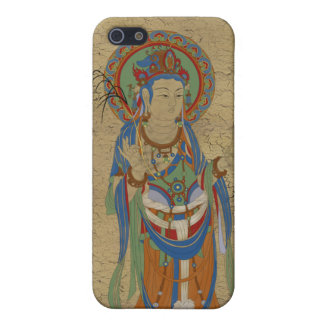 iPhone4 - Guan Yin Buddha Crackle Background iPhone 5 Cover