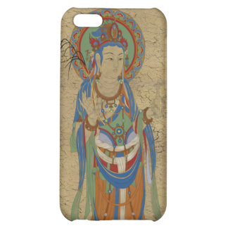 iPhone4 - Guan Yin Buddha Crackle Background iPhone 5C Covers