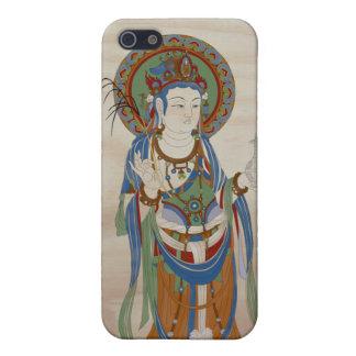 iPhone4 - Guan Yin Buddha Doug Fir Background iPhone SE/5/5s Cover