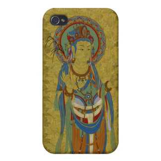 iPhone4 - Guan Yin Buddha Maple Leaf Background Cover For iPhone 4
