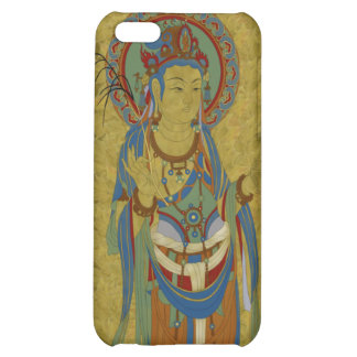 iPhone4 - Guan Yin Buddha Maple Leaf Background iPhone 5C Cases