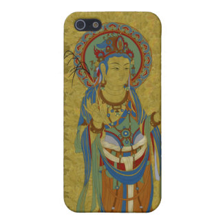 iPhone4 - Guan Yin Buddha Maple Leaf Background iPhone 5 Cover