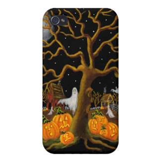 iphone4, Halloween,ghost,church,yard,graveyard Case For iPhone 4