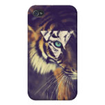 iPhone4 Hipster tigre Case iPhone 4/4S Carcasas