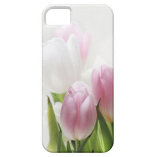 iphone4- pink and white tulips- case