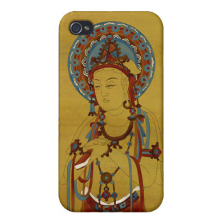 iPhone4 - Scripture Buddha Bamboo Background iPhone 4 Cases