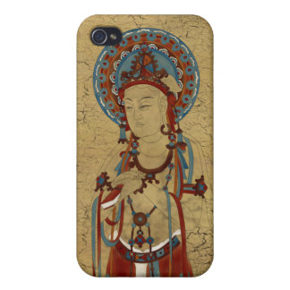 iPhone4 - Scripture Buddha Crackle Background iPhone 4/4S Case