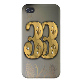 iPhone4 Victorian Gold Number 33 Speck Case