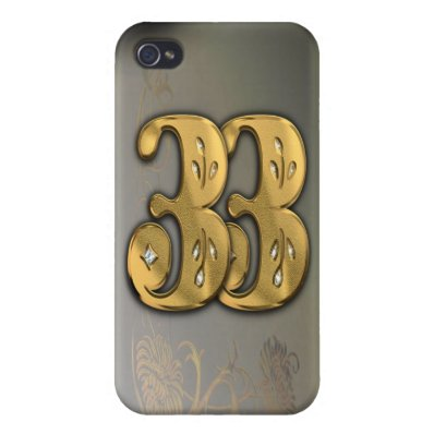 iPhone4 Victorian Gold Number 33 Speck Case iPhone 4 Covers