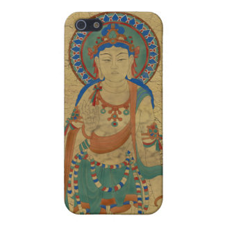 iPhone4 - Vitarka Mudra Buddha Crackle Background Cover For iPhone SE/5/5s