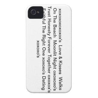 """iphone4case con"""" amor y besos y xoxoxo """" iPhone 4 Case-Mate fundas"""