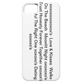 """iphone4case con"""" amor y besos y xoxoxo """" iPhone 5 carcasas"""
