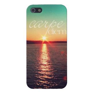 iphone5 case - Carpe diem sunset with typography iPhone 5 Cases