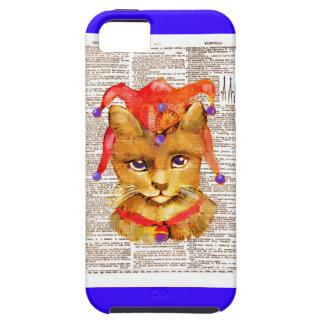 IPHONE5 CASE - JESTER CAT -VINTAGE CAT iPhone 5 CASES