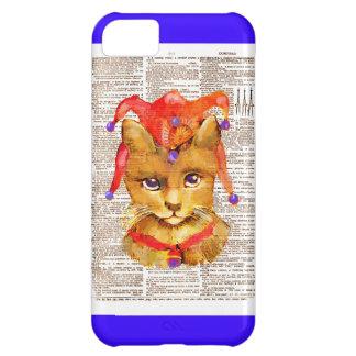 IPHONE5 CASE - JESTER CAT -VINTAGE CAT iPhone 5C CASE