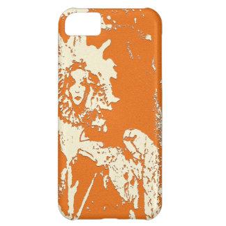 IPHONE5 CASE -SUNFLOWER GODDESS WOOD CUT DESIGN iPhone 5C COVERS