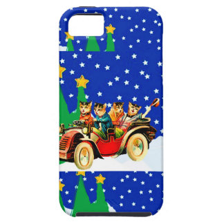 IPHONE5 CASE - WINTER FUN- WILD CATS AND MODEL T iPhone 5 COVERS